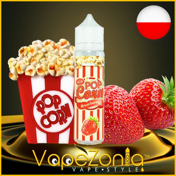 Pop Corn e liquid STRAWBERRY 50 ml vape shop Barcelona