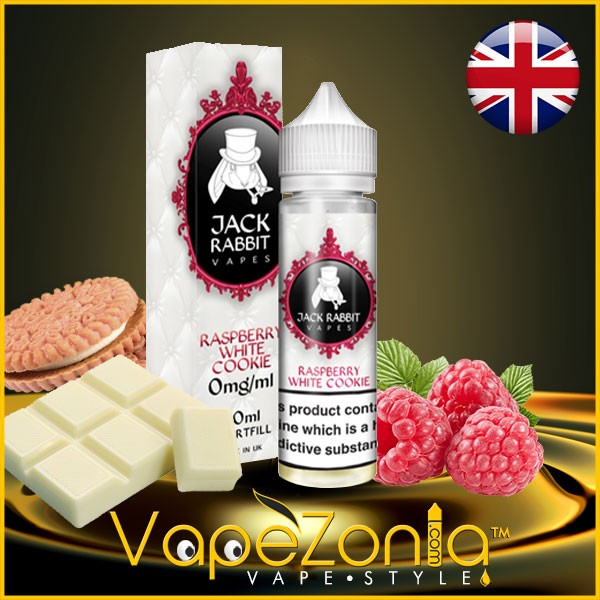 Jack Rabbit Vapes RASPBERRY WHITE COOKIE 50 ml
