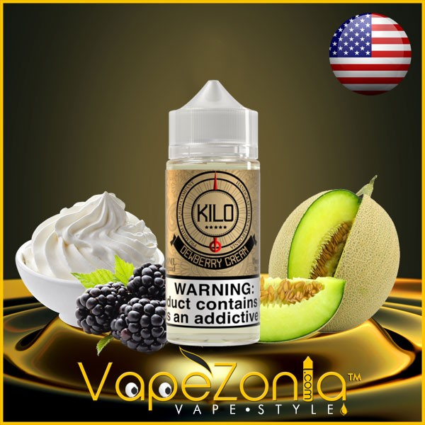 KILO e liquids DEWBERRY CREAM 100 ml vape shop Italia