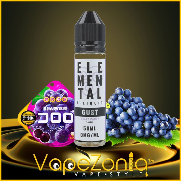 Elemental e liquid-GUST-GRAPE-CANDY 50 ml
