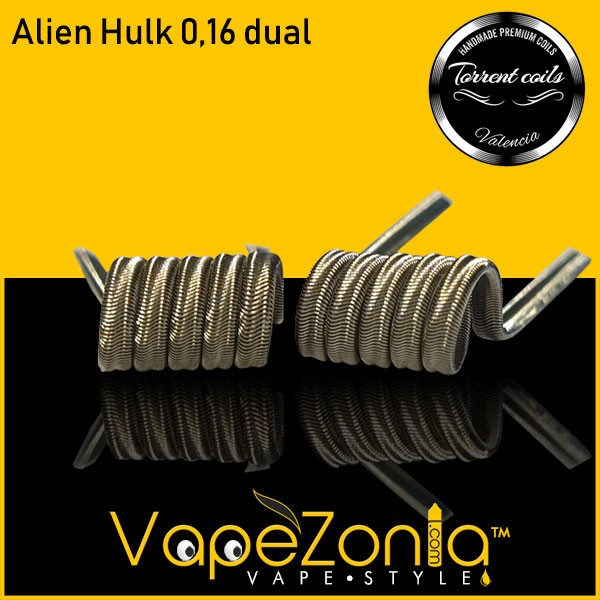 TORRENT COILS - ALIEN HULK 0,16 ohm DUAL