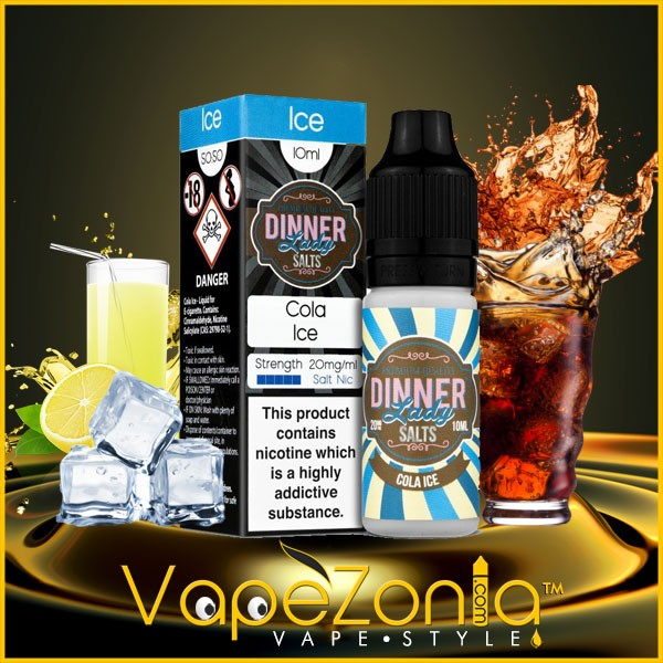 Dinner Lady Salt Nic COLA ICE 20 mg 10 ml