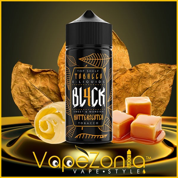BL4CK e liquid BUTTERSCOTCH TOBACO 100 ml