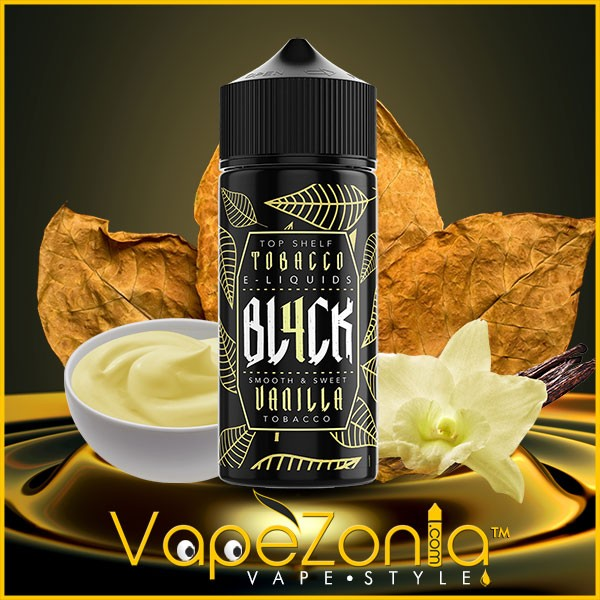 BL4CK e liquid VANILLA TOBACO 100 ml