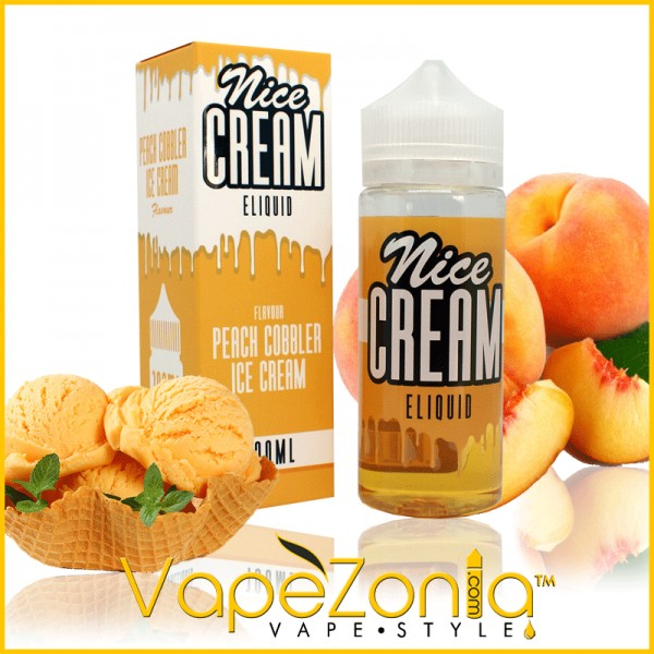 Nice Cream eliquid PEACH COBBLER - 100 ml