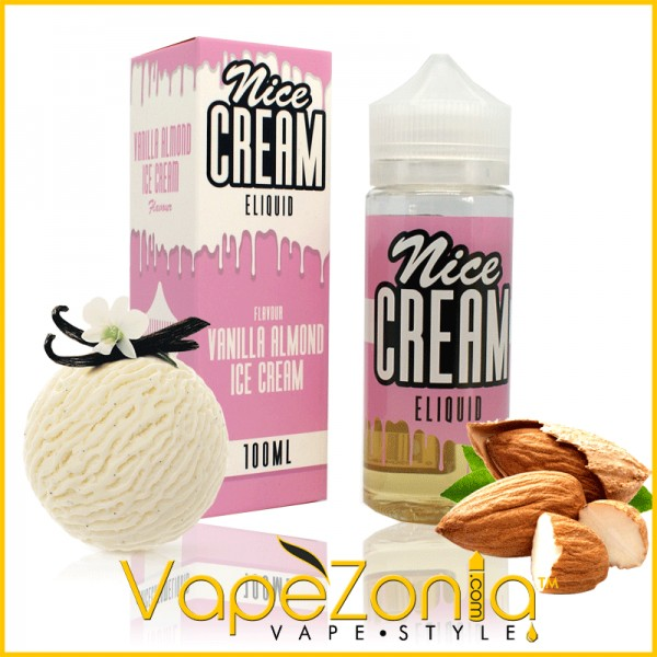 Nice Cream eliquid VANILLA ALMOND - 100 ml